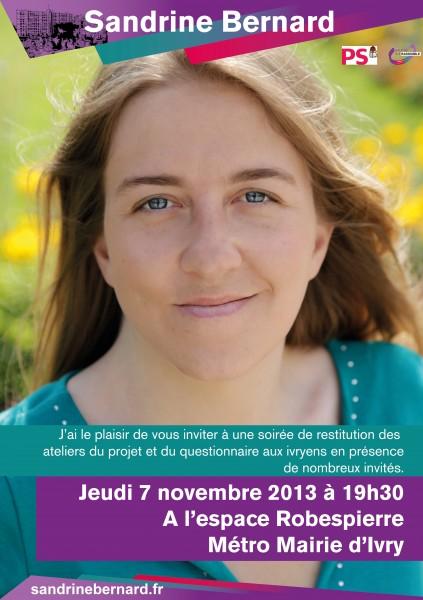 Invitation 7 Novembre à Ivry